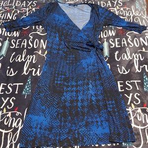 Cute Faux-Wrap Dress